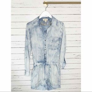 Cloth & Stone Anthropologie Railroad Stripe Romper